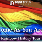 LGBTQ+ rainbow history bus tour