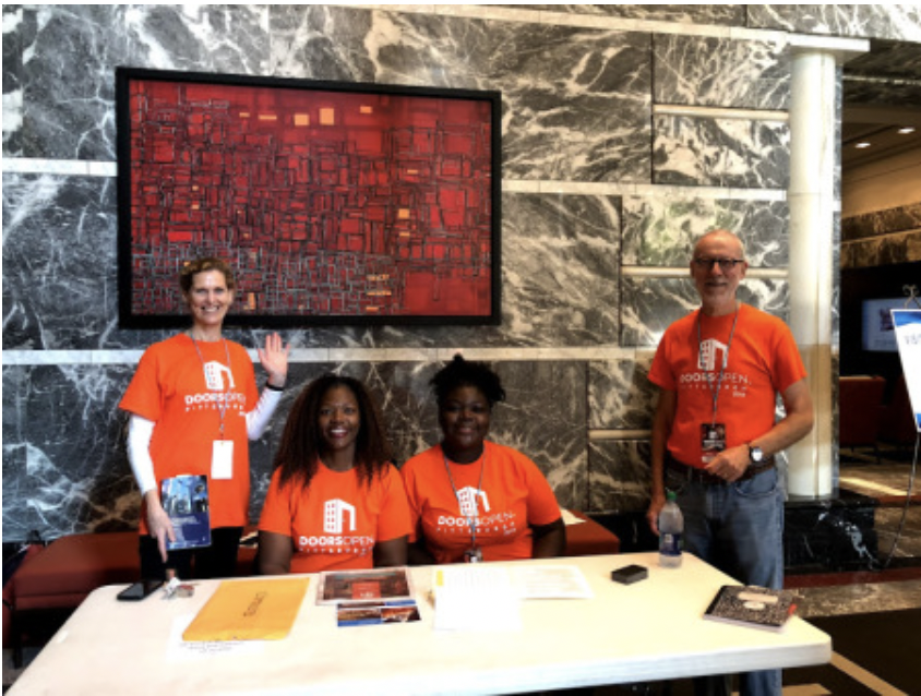 Volunteers at the annual Doors Open Pittsburgh annual event