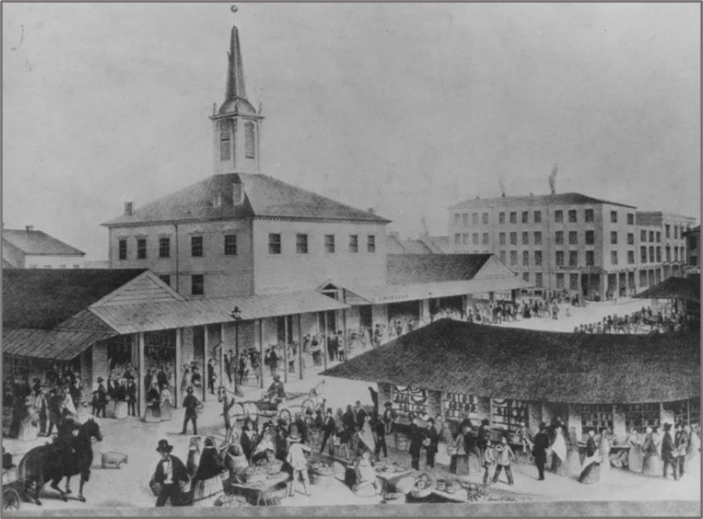 First City Courthouse and Market in Diamond Square